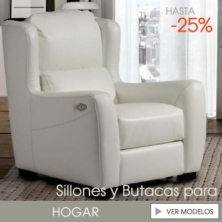 sillones piel modernos baratos