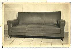 primeros sofas de piel años 60