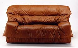 sofas piel modernos años 80