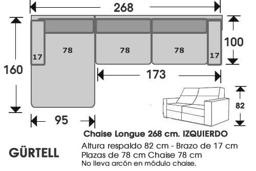 (247) ChaiseLongue 268cm IZDO
