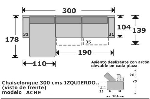 (101) ChaiseLongue 300cm Izdo